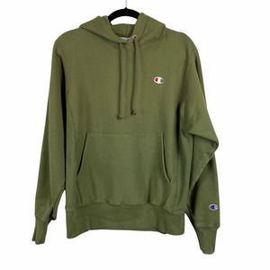 Champion Parker Reverse Weave Pullover Hoodie Olive Green Size Medium